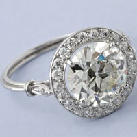 2.01ct Art Deco Round Diamond Engagement Ring EGL GIA certified 18kt  JEWELFORME BLUE