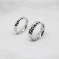 2pcs-,Free Engraving,silvers alloy promise rings,Simple Ring,promise rings,couple rings,wedding bands