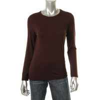 Lord & Taylor Womens Petites Stretch Jersey Pullover Top