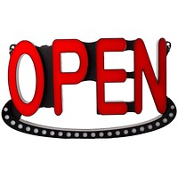OPEN LED Sign with 2 mode Animated chase effect colorful light