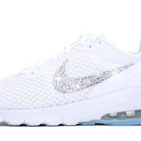 Sale Nike Air Max Motion LW + Crystals - Triple White - size 8