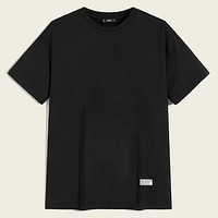 Fashion Casual Men Patched Detail Tee