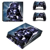 ONETOW PS4 Pro Star Wars Skin Sticker Cover For Sony Playstation 4 Pro Console&Controllers