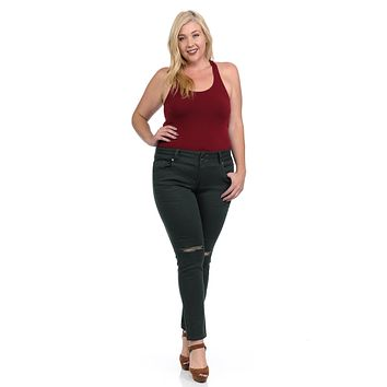 Pasion Women's Jeans - Plus Size - High Waist - Push Up - Skinny - Style N2801H-R