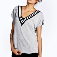 Courtney V Neck Tee With Sports Rib - Essentiels D'hiver - Collections