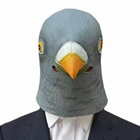 Creepy Pigeon Head Mask Latex Prop Animal Cosplay Costume Party Halloween