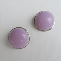 CORO Pegasus Lavender Thermoset Clip Earrings Vintage Jewelry
