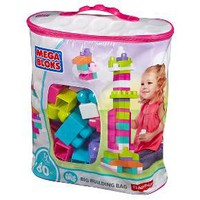 Mega Bloks Big Building Bag 80 Piece Set - Pink : Target