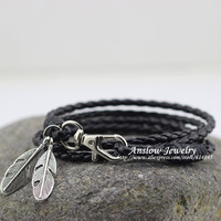 Fashion Jewelry PU Leather Charm Friendship Bracelets