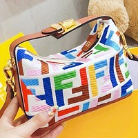 Hipgirls  Fendi New fashion more letter canvas shoulder bag handbag crossbody bag