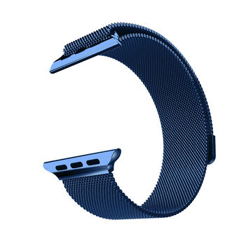 Stainless Steel Dark Blue 42mm Milanese Loop Apple Watch Mesh Band