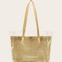 Clear Woven Tote Bag