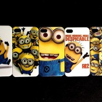 """5 X Despicable Me Minion Plastic Hard Case Skin For Apple Iphone 5 (Package includes: 1 X Screen Protector and 1X Stylus Pen image""""catgift_store"""")"""