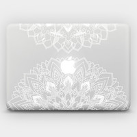 "Transparent White Ink Skin Sticker Decal for MacBook 12"" MacBook Air 11"" 13"" MacBook Pro 13"" 15"" - Mandala 9b"