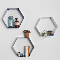 Hexagon Shelf in White - Urban Outfitters