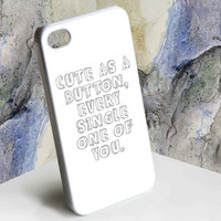Cute as a Button One Direction Marcel Inspired for iphone 4/4s, iphone 5, Samsung Galaxy S3 i9300, Samsung Galaxy S4 i9500 case