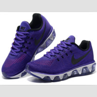 NIKE fashion knitted casual shoes sports running shoes Purple