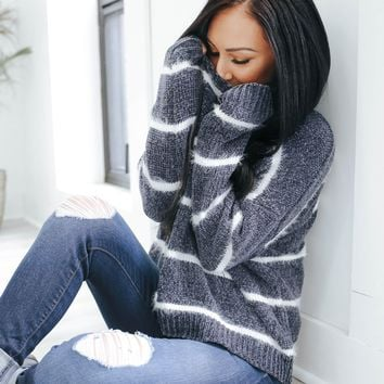 Everything About It Sweater - Charcoal