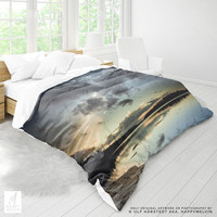Sunset Duvet Cover | Nature Bed Linen | Lake Duvet Covers | Wanderlust Bedding | Nature Photography | Colorful Sunsets | Bohemian Bedroom