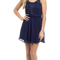 Chasity Blues Ladder Back Dress
