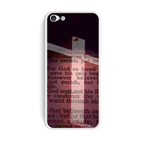 Cross and Bible Verse John 3-16 For God So Loved the World iPhone 5C Skin