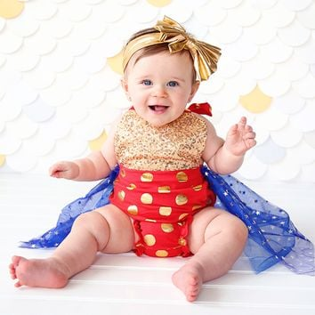 Baby Girls Starry romper