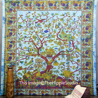Tree Of Life Tapestry, Tapestry Wall Hanging, Hippie Tapestries, Bohemian Tapestries, Wall Tapestries, Mandala Tapestries, Indian Tapestries