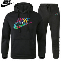 Nike new long-sleeved hooded sportswear suits for men and women