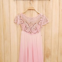 Cute Cheap Beaded embroidery vest dress - Sleeveless Online Shopping Free Shipping