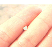 Tiny Silver Heart Cartliage Earring Tragus Helix Piercing