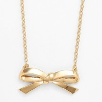 kate spade new york 'finishing touch' bow pendant neckla
