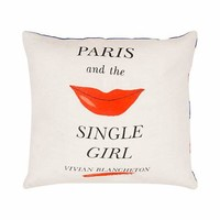 paris and the single girl pillow