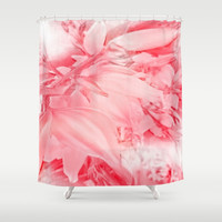 Flowering Branch in Red, Pink and White Shower Curtain by Jenartanddesign