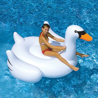 150CM 60 inch Giant Swan Inflatable Ride-On Pool Toy Float inflatable swan pool Swim Ring Holiday Water Fun Pool Toys