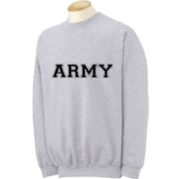 Athletic ARMY crewneck Sweatshirt in Sport Gray