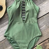 Cupshe Run In Poetry Strappy One-piece Swimsuit