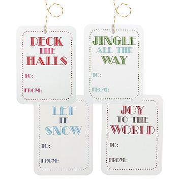 christmas carol gift tags - 4 pack