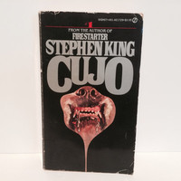 Vintage Horror Book Cujo Stephen King 1982 Paperback First Edition Classics