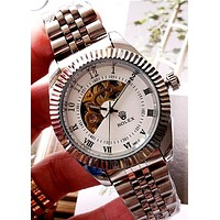 Rolex 2019 new high-end fashion men and women mechanical watch white
