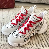 Dior CD Connect new lace-up platform shoes, ladies all-match casual sports shoes 2