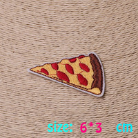 2016year New arrival 1PC Pizza sandwich food Iron On Embroidered Patch For Cloth Cartoon Badge Garment Appliques DIY Accessory