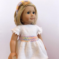 18 Inch Doll Dress, White Doll Dress, Girl Doll Outfit