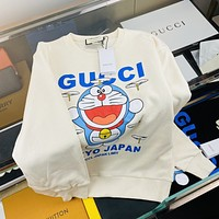 [Gucci] 2021 new jingle cat letter printing couple's round neck sweater