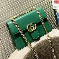 GUCCI New fashion leather shoulder bag women Green