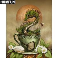 5D Diamond Painting Tea Cup Dragon Kit