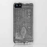 Keep Boston Harbor Clean iPhone & iPod Case by Brooke Ryan Photography