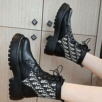 Dior new Martin boots thin breathable boots winter plus velvet short boots Shoes