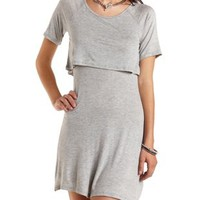 Layered T-Shirt Skater Dress by Charlotte Russe