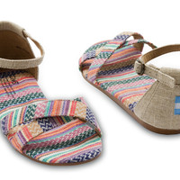 MIXED WOVEN BURLAP VEGAN WOMEN'S CORREA SANDALS