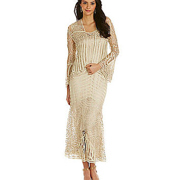Soulmates 3-Piece Embroidered Skirt Set - Champagne